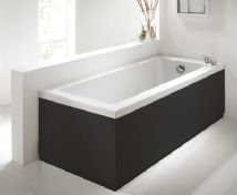 Matt Black 2 Piece Adjustable Bath Panel Set